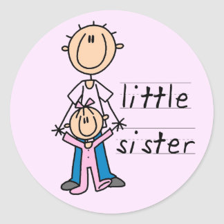 Little Sister with Big Brother T-shirts and Gifts Stickers