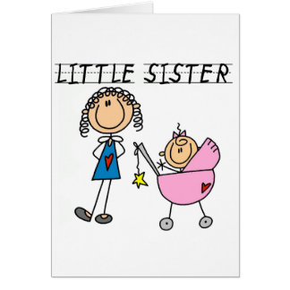 Little Sister With Big Sis Tshirts Card