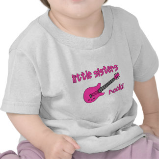 Little Sisters Rock! with Pink Guitar T-Shirt