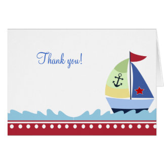 Little Skipper (Red) Folded Thank you notes