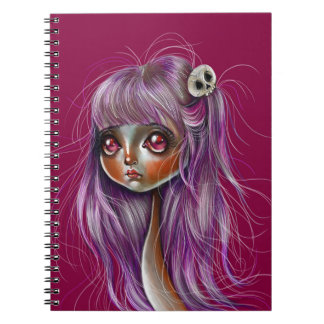 Little Skull Girl Pop Surrealism Notebook
