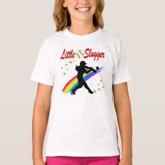 LITTLE SLUGGER GIRLS SOFTBALL DESIGN T-Shirt