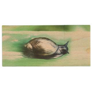 Little Snail Wood USB Flash Drive