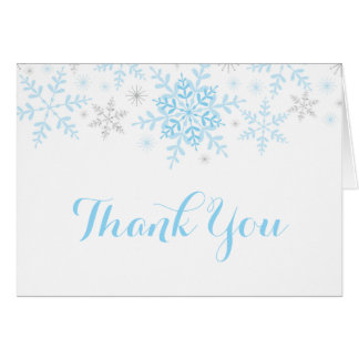 Little Snowflake Baby Shower Thank You Card
