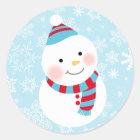 Little Snowman Design   Winter Sticker