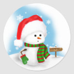Little Snowman Sticker
