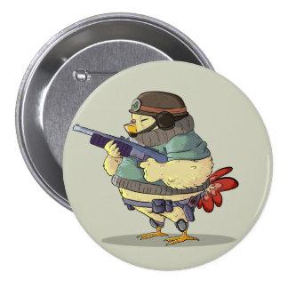 Little Soldier 3 Inch Round Button