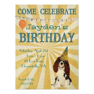 LITTLE SPANIEL Birthday Invitation