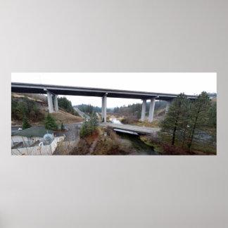 Little Spokane River and Wandermere 395 Bridge Poster