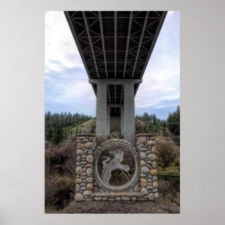 LITTLE SPOKANE RIVER VALLEY - WANDERMERE BRIDGE POSTER