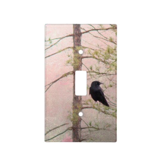Little Spring Crow Art Raven Deco Light Switch Cover