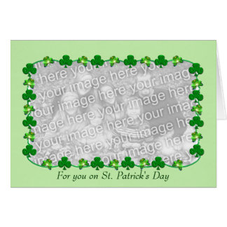 Little St. Patrick's Day Shamrocks (photo insert) Card
