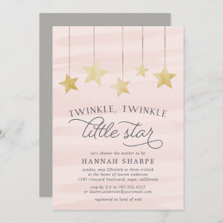 Printed Baby Shower Invitation It/'s a Girl Gold Glitter Shower Sweet Baby Announcement