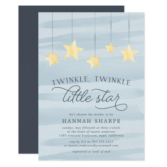 Little Star Baby Shower Invitation | Sky Blue