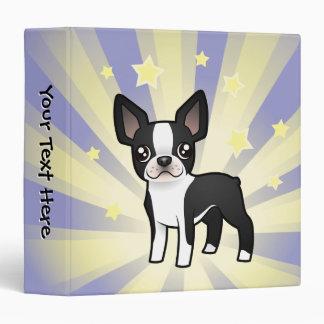 Little Star Boston Terrier Vinyl Binder