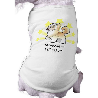 Little Star Chinese Crested (powderpuff) Dog Tee Shirt