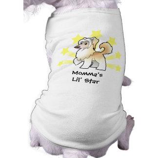 Little Star Chinese Crested (powderpuff) Dog Tee Shirt