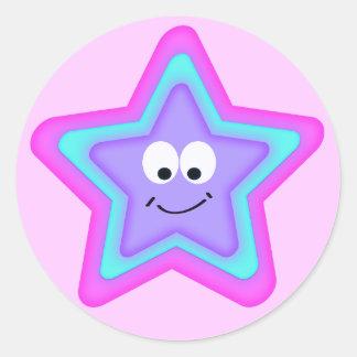Little Star Classic Round Sticker