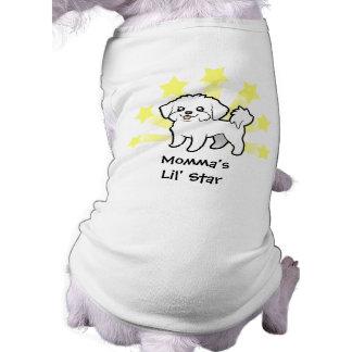 Little Star Maltese (puppy cut) Pet T Shirt