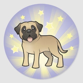 Little Star Mastiff / Bullmastiff Classic Round Sticker
