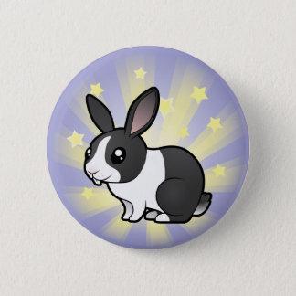 Little Star Rabbit (uppy ear smooth hair) 2 Inch Round Button