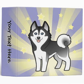 Little Star Siberian Husky / Alaskan Malamute Vinyl Binder