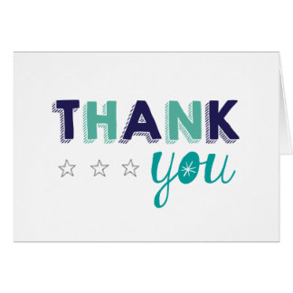 Little Star Thank You Note Card
