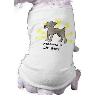 Little Star Weimaraner Doggie T Shirt