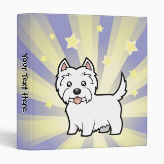 Little Star West Highland White Terrier 3 Ring Binder