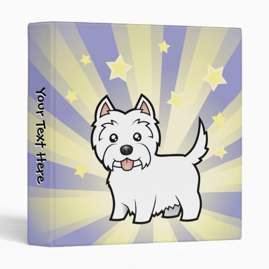 Little Star West Highland White Terrier 3 Ring Binder