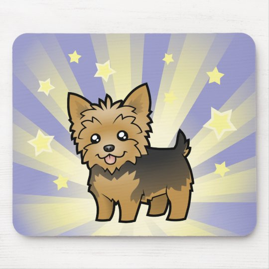 Little Star Yorkshire Terrier Short Hair No Bow Mouse Pad Zazzle Ca