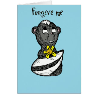 Little Stinker Skunk I'm Sorry Greeting Card