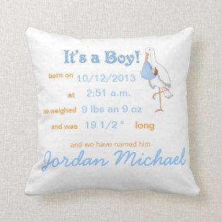 Little Stork: It's a Boy! Keepsake Pillow