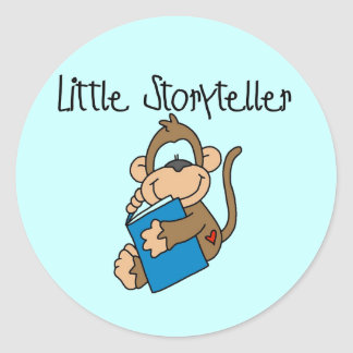 Little Storyteller Tshirts and Gifts Classic Round Sticker