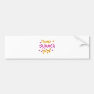 Little summer girl cool design bumper sticker
