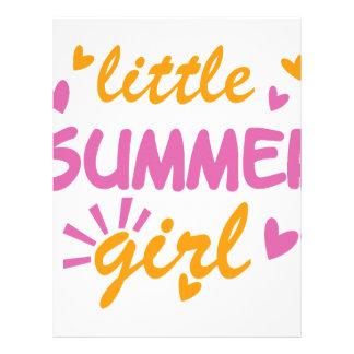 Little summer girl cool design letterhead