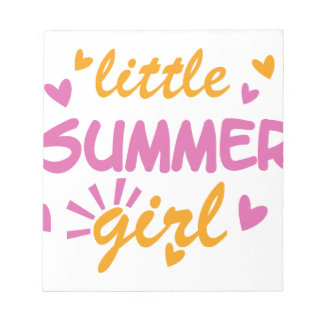 Little summer girl cool design notepad