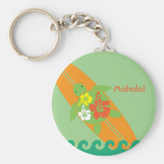 Little Surf Rider Honu Personalized Key Chain