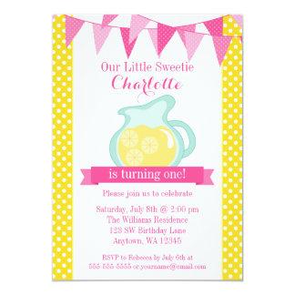 Little Sweetie Pink Lemonade Bunting Birthday Card