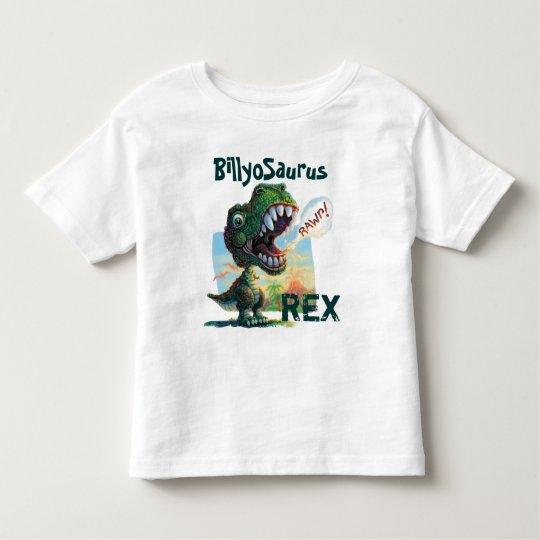 Little T Rex Painted Toddler T-shirt