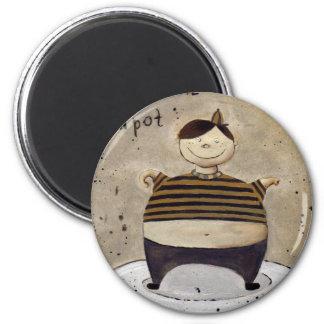 little tea pot 2 inch round magnet