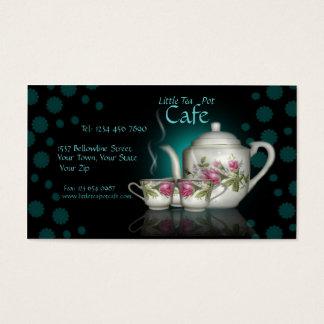 Little Tea Pot Cafe Shop Business Card