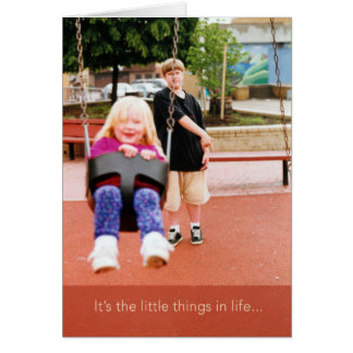 Little Things in Life Thank You Greeting Card