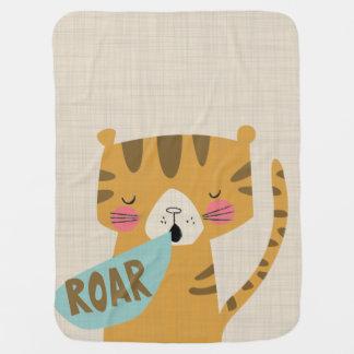 Little Tiger Roar Baby Blanket Jungle Animals