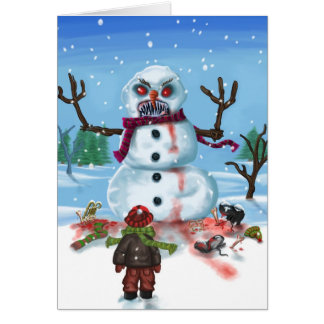 Little Timothys LAST Snowman Card