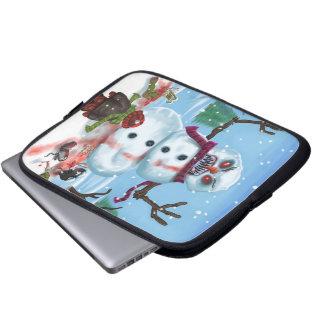 Little Timothys LAST Snowman Electronics Bag Laptop Computer Sleeves
