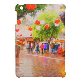 Little Tokyo Japanese village Painting iPad Mini Case