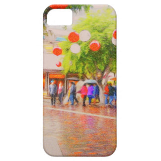 Little Tokyo Japanese village Painting iPhone 5 Covers