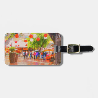 Little Tokyo Japanese village Painting Luggage Tag