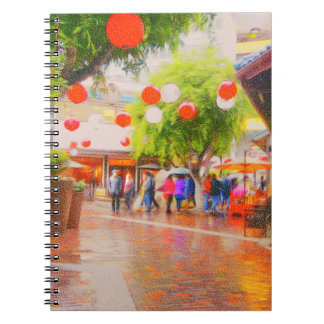 Little Tokyo Japanese village Painting Notebook
